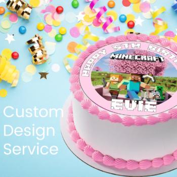 Edible Cake Topper Custom Design