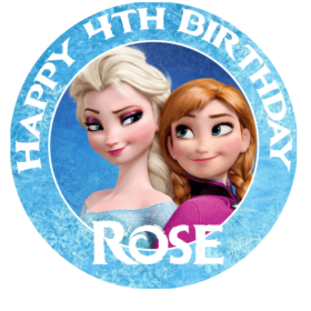 Frozen AnnaElsa Edible Picture Cake Topper