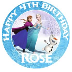 Frozen AnnaElsaOlaf Edible Cake Topper