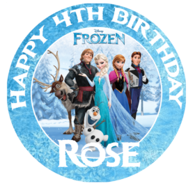 Frozen Edible Picture Cake Topper