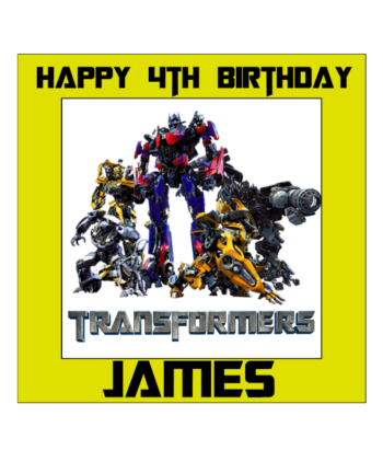 Transformers Edible Cake Topper
