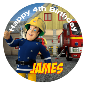 Fireman Sam Edible Cake Topper