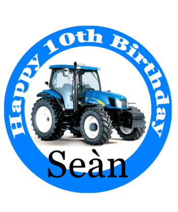 New Holland Cake Topper