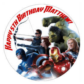 Avengers Edible cake topper