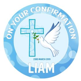 Confirmation Boy Edible Cake Topper