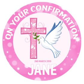Confirmation Girl Edible Cake Topper