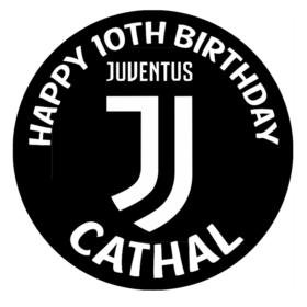 Juventus Edible Cake Topper