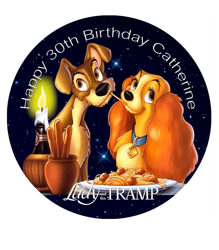 Lady And The Tramp Edible Cake Topper