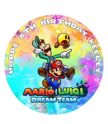 Mario Dream Team Edible Cake Topper