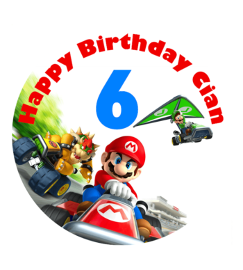 Mario Kart Edible Cake Topper