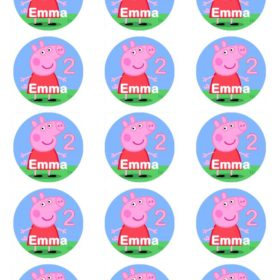 Peppa Pig Edible Cupcake Toppers