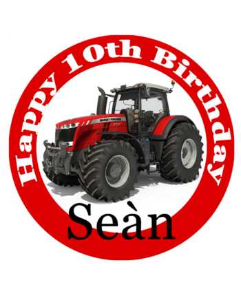 Tractor Massey Cake Topper