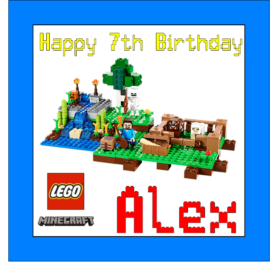 Lego Minecraft Edible Cake Topper