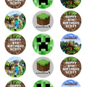 minecraft edible cupcake toppers