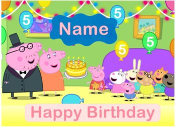 Peppa Party A4