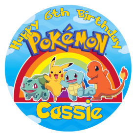 Pokemon Edible Cake Topper