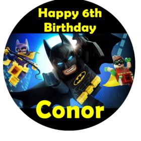 Lego Batman Edible Cake Topper