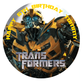 Transformers bumblebee Edible Cake Topper