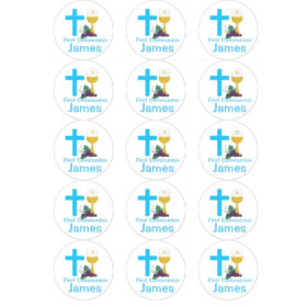 communion edible cupcake toppers
