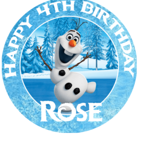 Frozen Olaf Edible Cake Topper