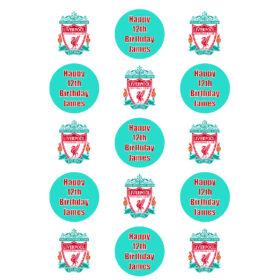 Liverpool Cupcake Edible Prints