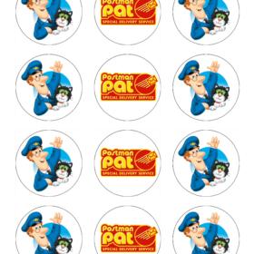 Postman Pat Edible Cupcake Toppers