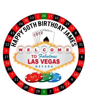 Vegas edible cake topper