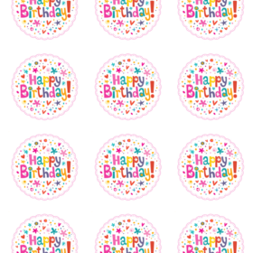 Birthday Edible Cake Toppers