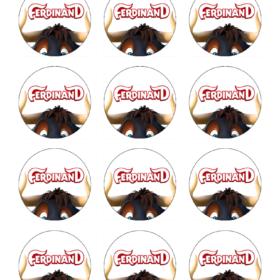 Ferdinand Edible Cupcake Toppers