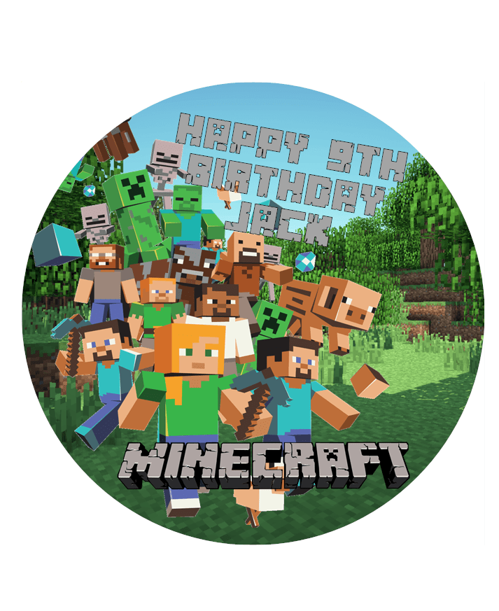 Minecraft Cake Topper Images