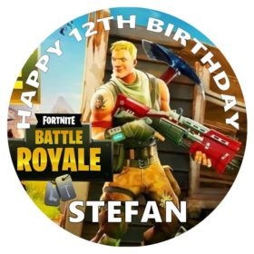 Fortnite Battle Royal Edible Cake Topper