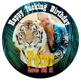 tiger king cake topper