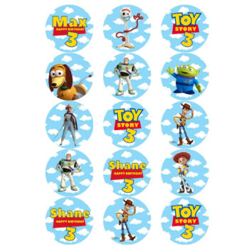 Toy Story Edible Cupcake Prints
