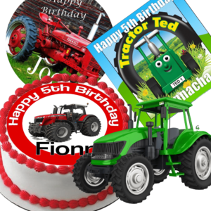 Edible Cake Toppers Tractors