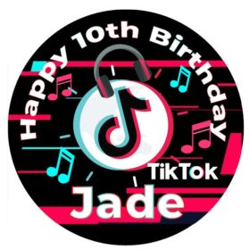 tiktok edible cake toppers