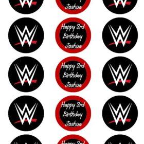 WWE Edible Cake Toppers