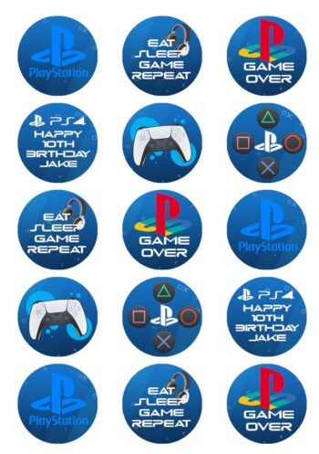 PS4 edible cake toppers