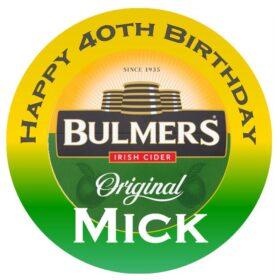 Bulmers Edible Cake topper