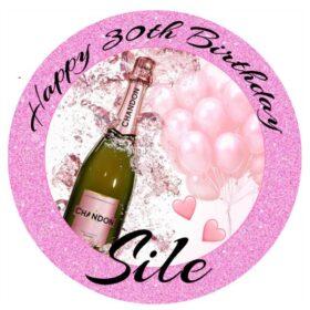 Champagne Edible Cake Print