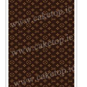 LV Pattern Edible Cake Print
