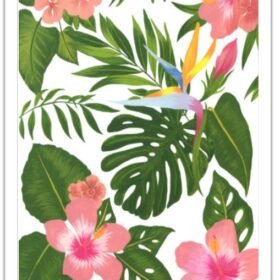 tropical flower cake wrap edible print