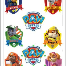 Paw Patrol Badge cut outs