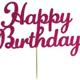 Happy Birthday Card Cake Topper