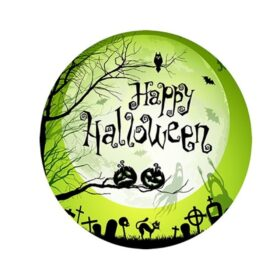 Green Halloween Cake topper