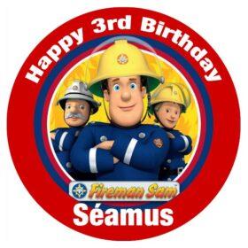 Fireman Sam Edible Print