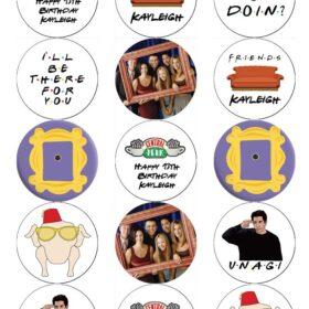 Friends Edible Cupcake Prints