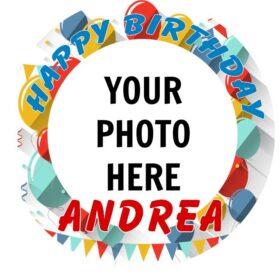 Birthday Add your Photo Edible Print