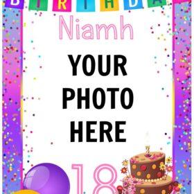 Add your Photo Birthday Edible Print