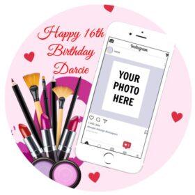 Instagram Make up Edible Print