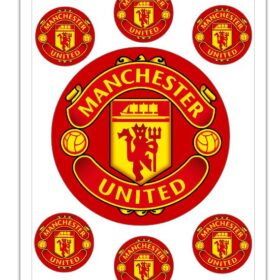 Man United 6 inch Red Edible Print
